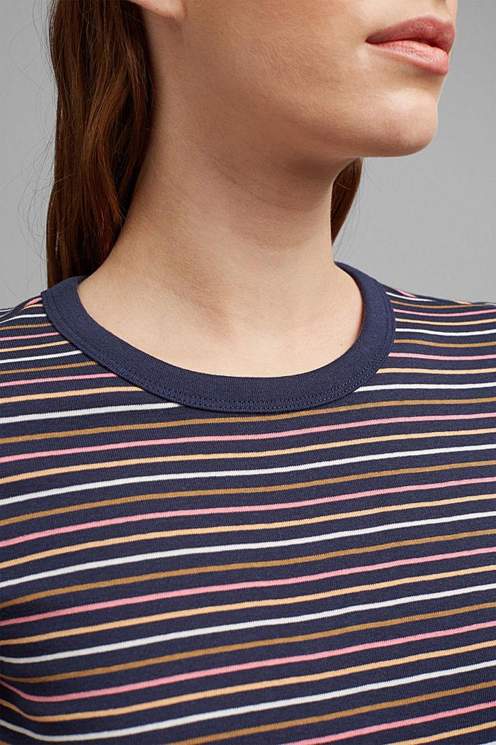 Streifen-Shirt aus 100% Bio-Baumwolle, NAVY, detail image number 2