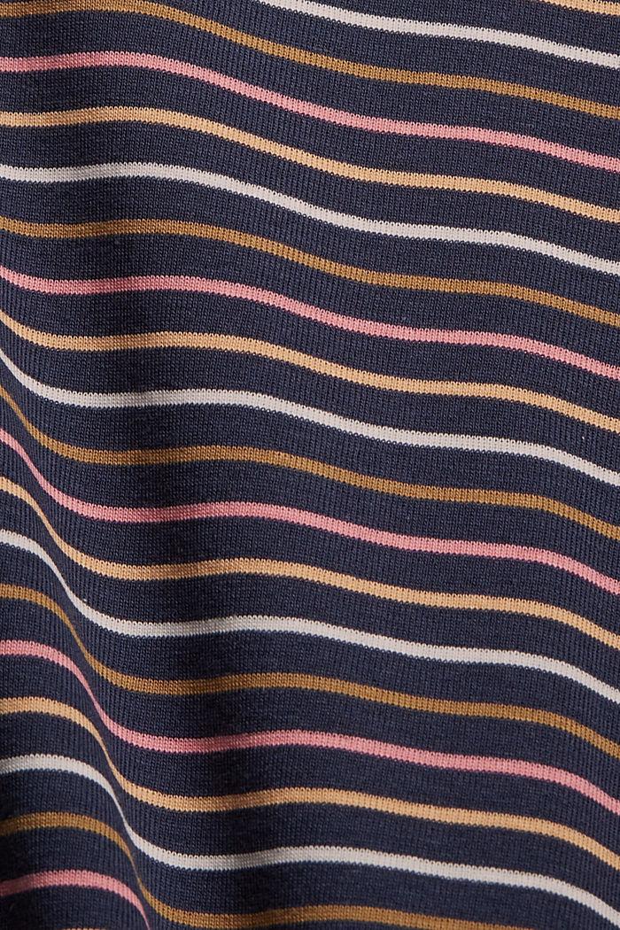 Streifen-Shirt aus 100% Bio-Baumwolle, NAVY, detail image number 4