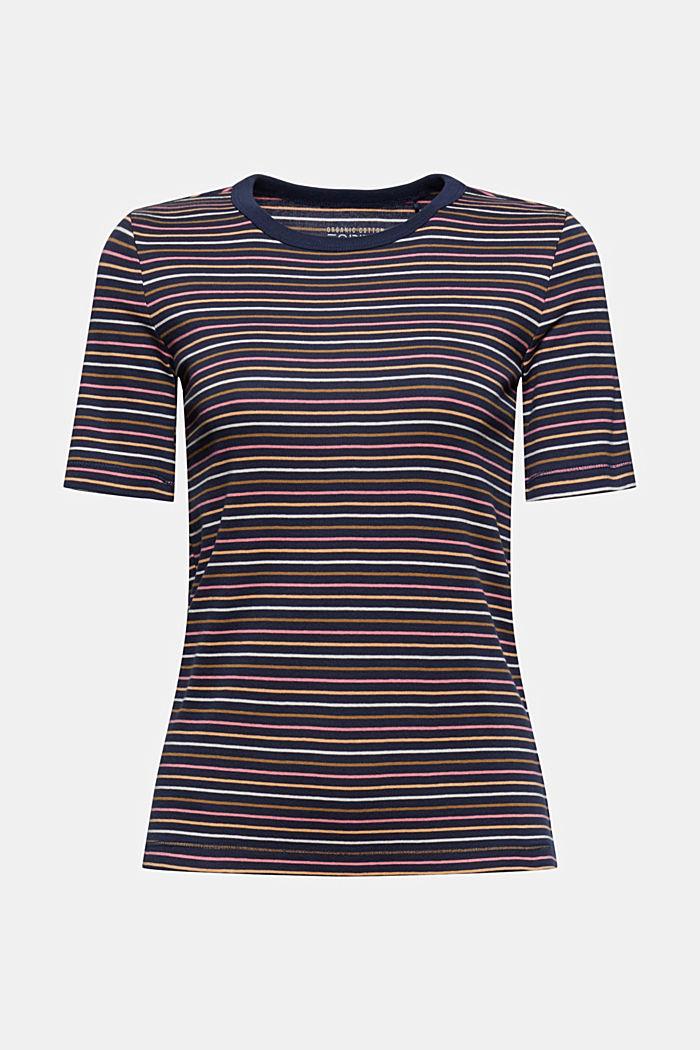 Streifen-Shirt aus 100% Bio-Baumwolle, NAVY, detail image number 5