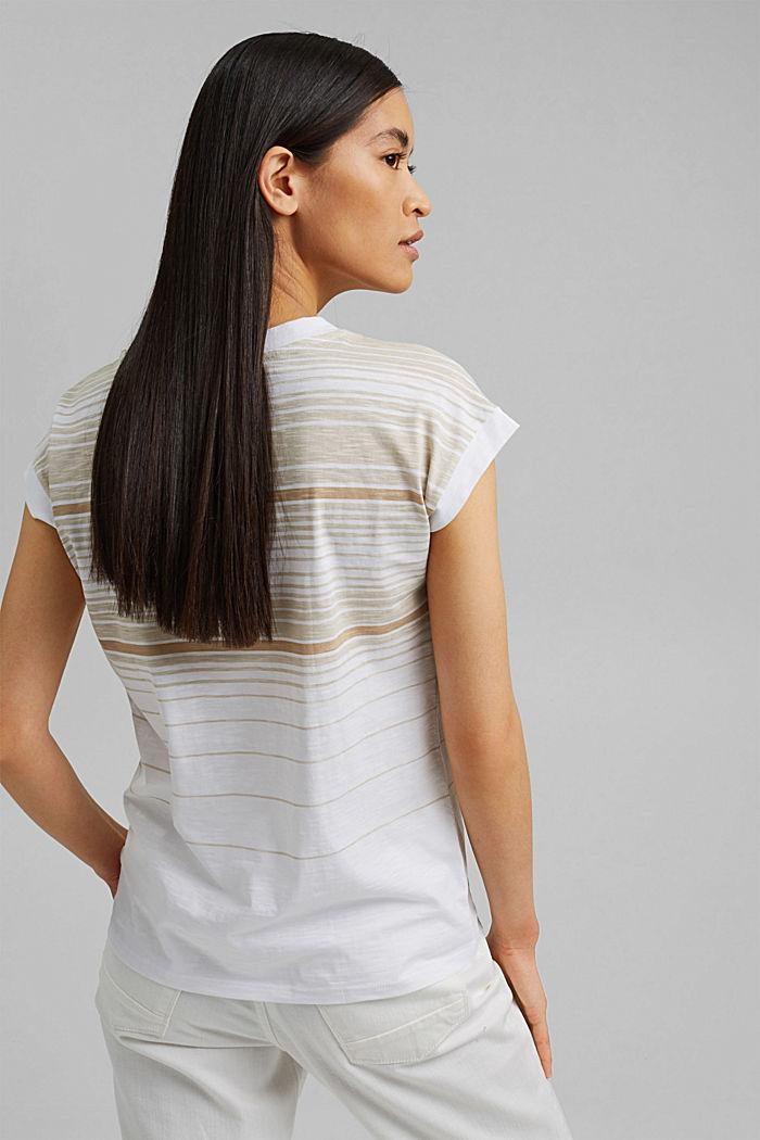Gestreiftes T-Shirt aus 100% Bio-Baumwolle, WHITE, detail image number 3