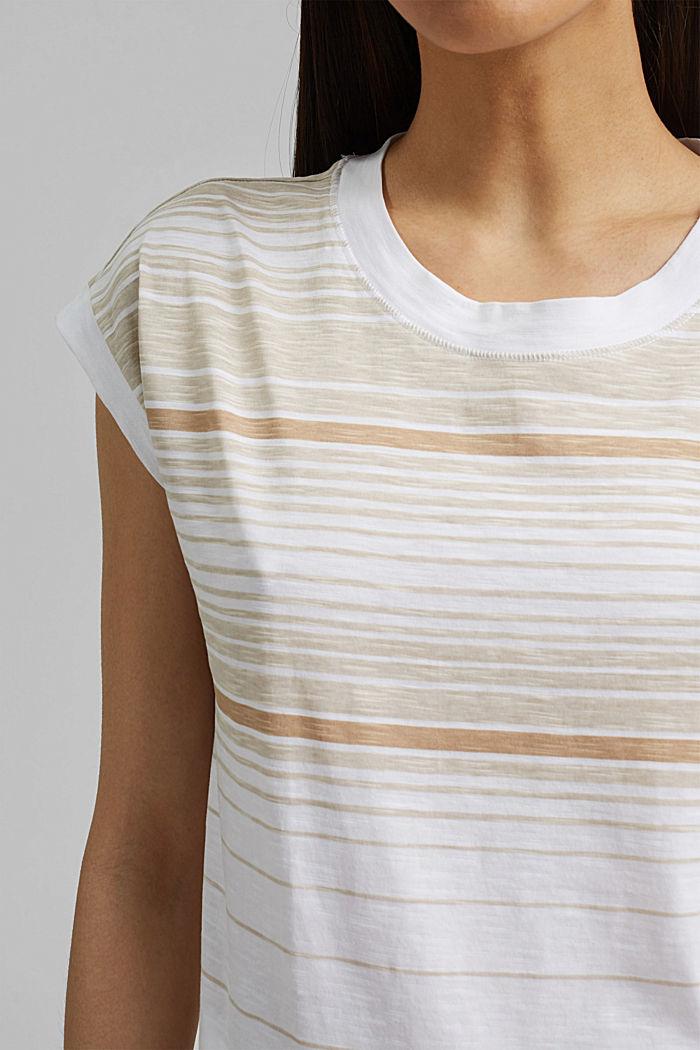 Gestreiftes T-Shirt aus 100% Bio-Baumwolle, WHITE, detail image number 2