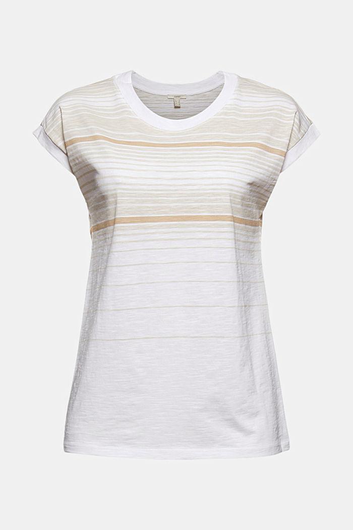 Gestreiftes T-Shirt aus 100% Bio-Baumwolle, WHITE, detail image number 5