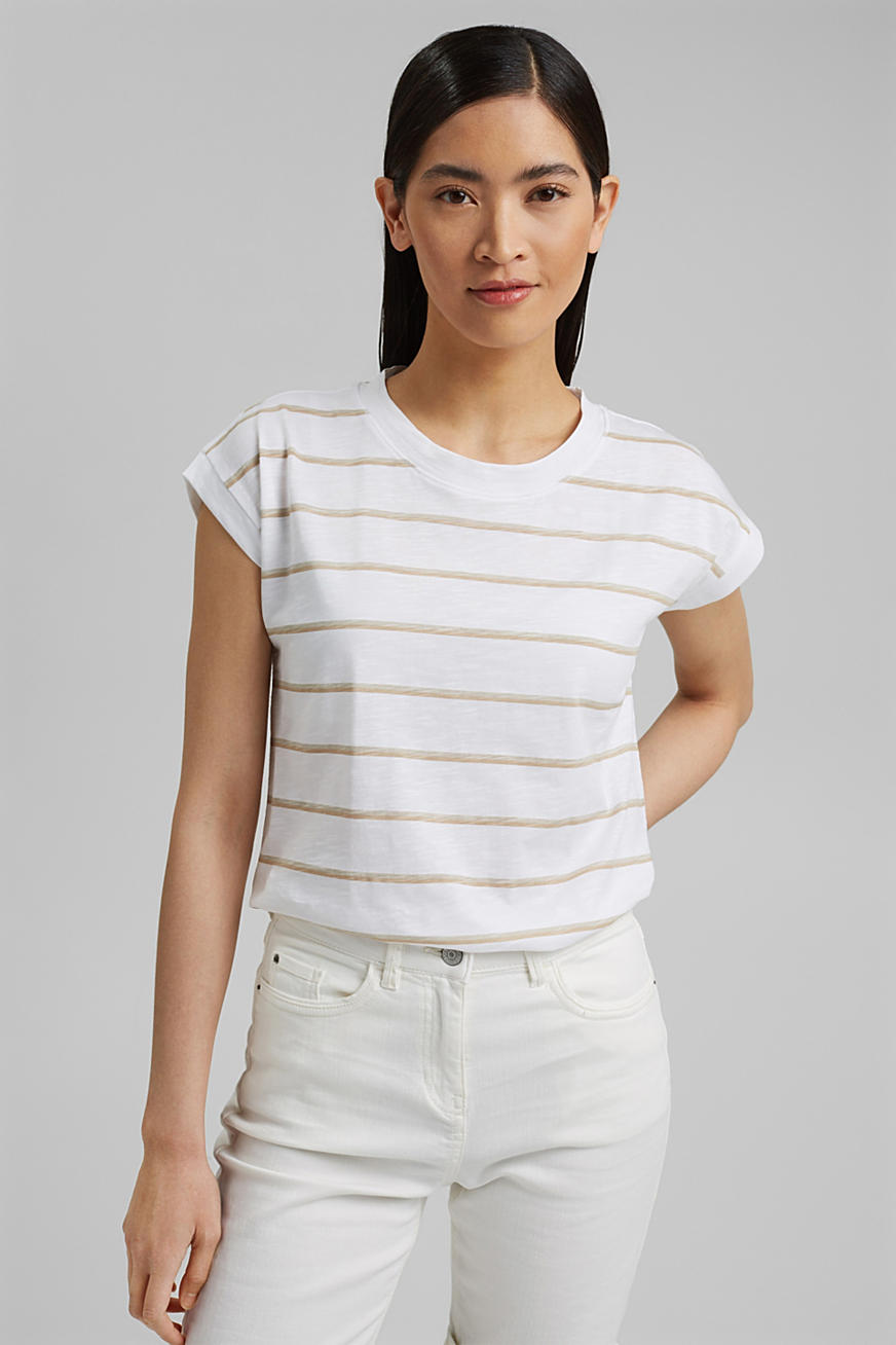 Striped T-shirt made of 100% organic cotton