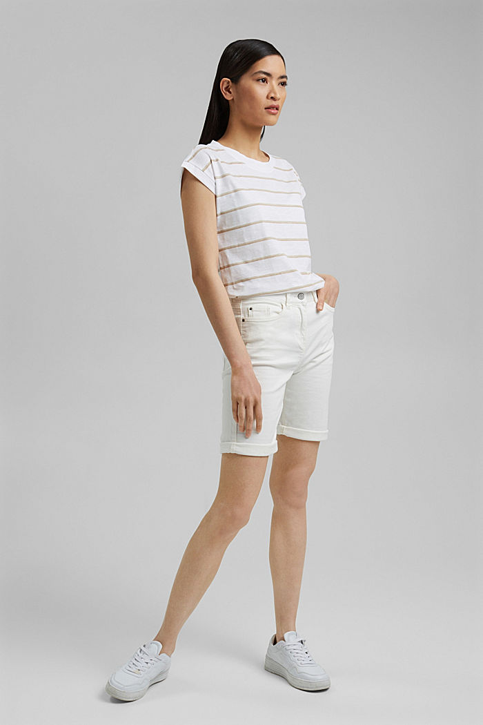 Striped T-shirt made of 100% organic cotton, NEW WHITE, detail image number 1