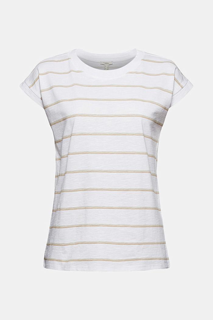 Gestreept T-shirt van 100% biologisch katoen