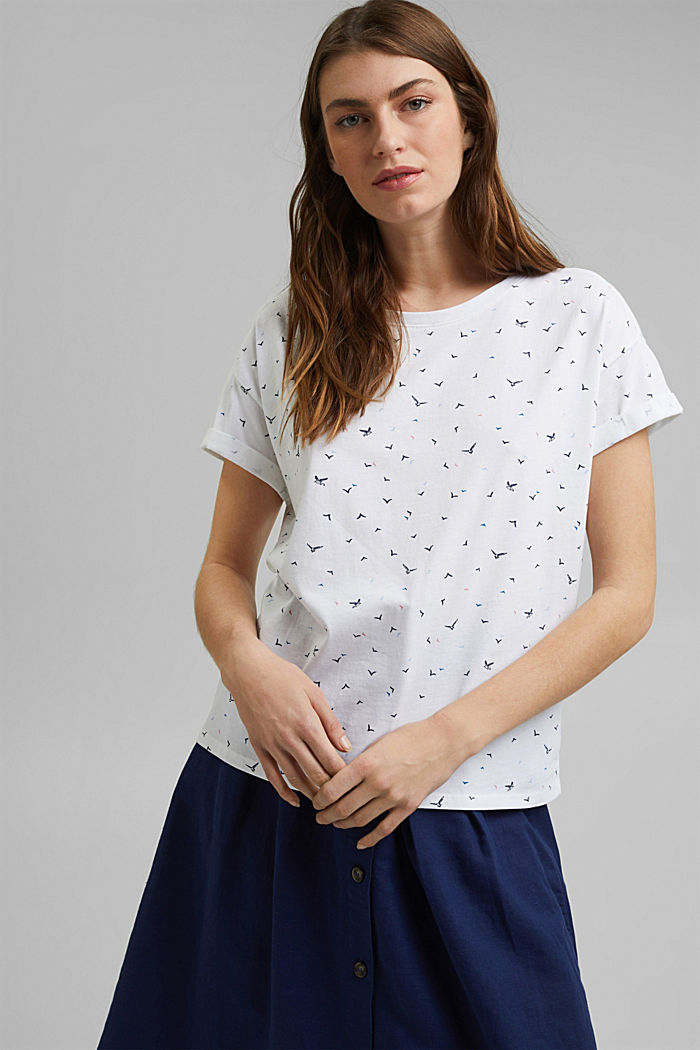 T-shirt met print, organic cotton