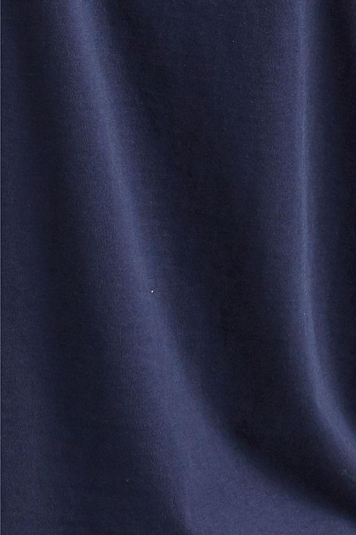 Printti-t-paita, luomupuuvillaa, NAVY, detail image number 4
