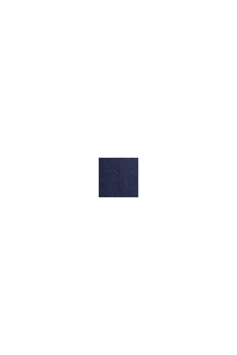 T-shirt med print, økologisk bomuld, NAVY BLUE, swatch