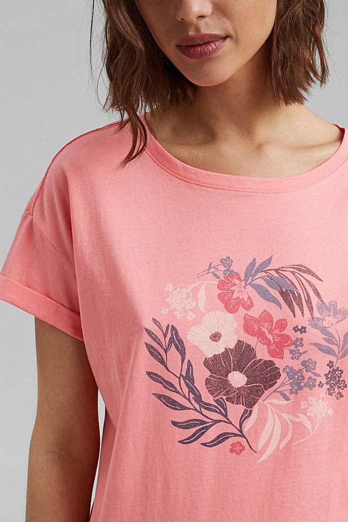 Printti-t-paita, luomupuuvillaa, CORAL, detail image number 2