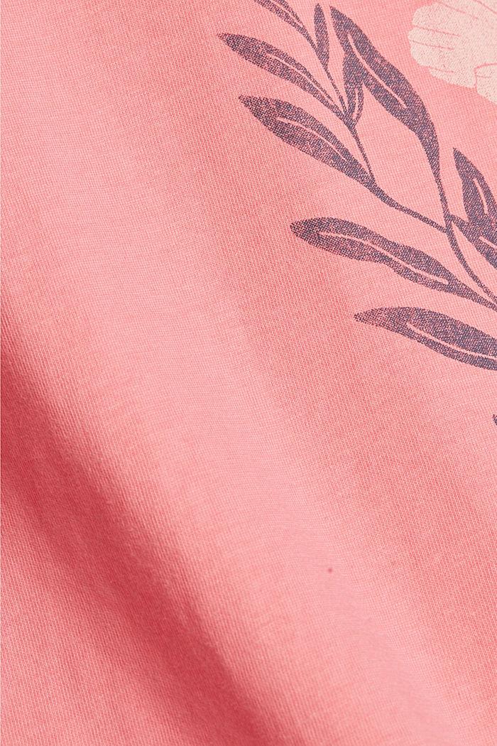 Printti-t-paita, luomupuuvillaa, CORAL, detail image number 4