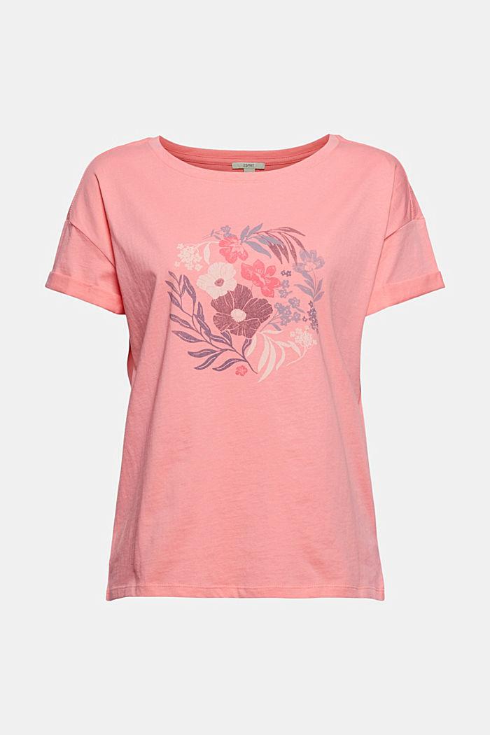 Printti-t-paita, luomupuuvillaa, CORAL, detail image number 6