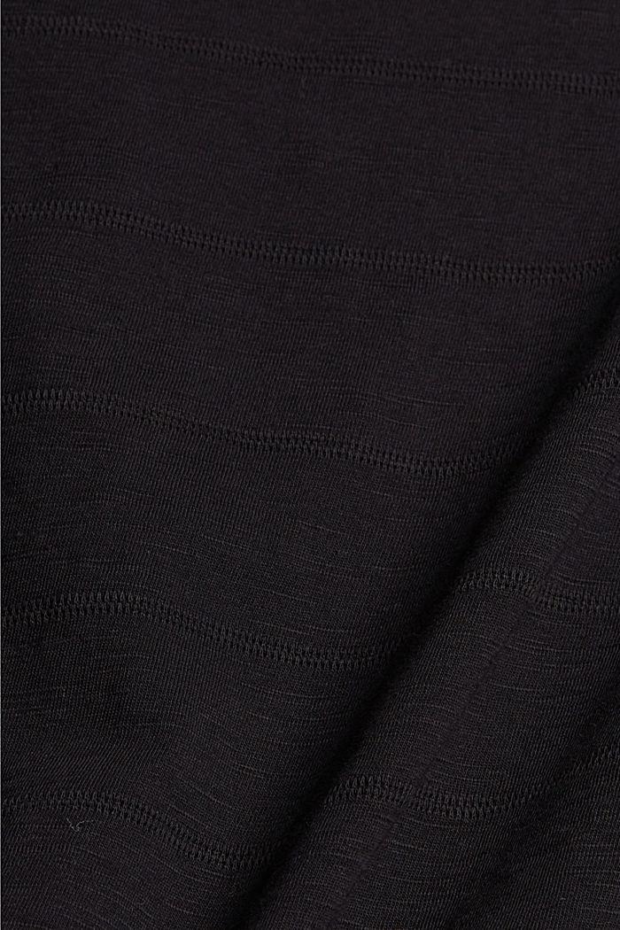 T-shirt met knoopsluitingen, 100% biologisch katoen, BLACK, detail image number 4