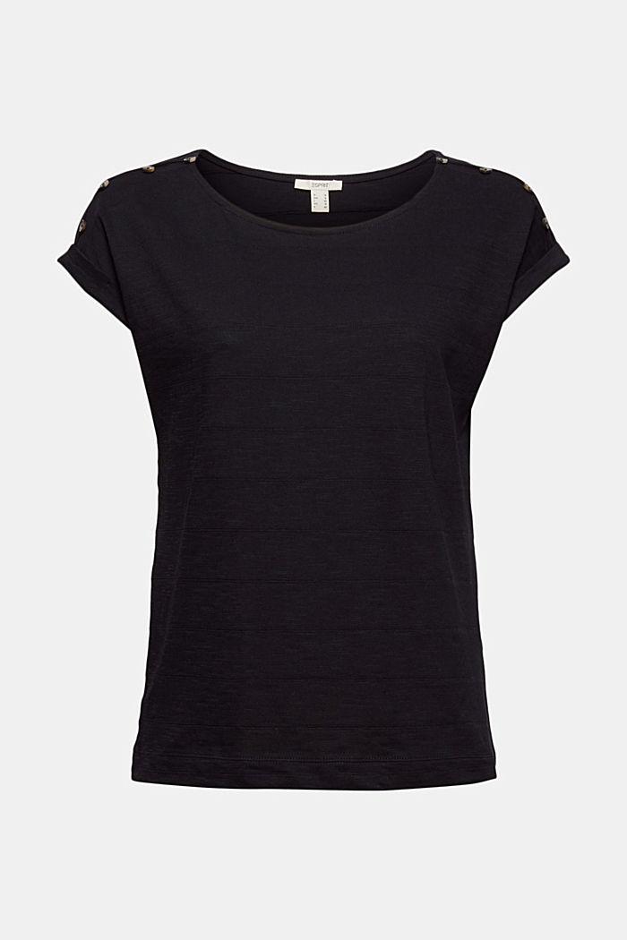 T-shirt met knoopsluitingen, 100% biologisch katoen