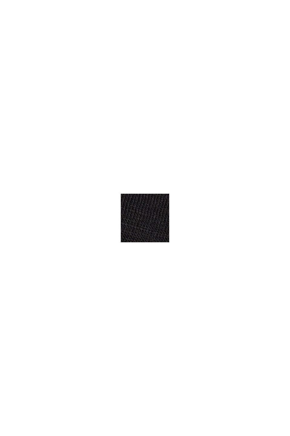 T-Shirt mit Knopfleisten, 100% Bio-Baumwolle, BLACK, swatch