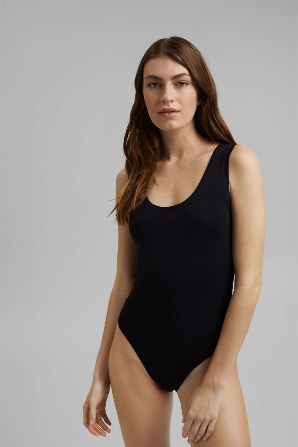 Esprit - Vest body made of stretch organic cotton