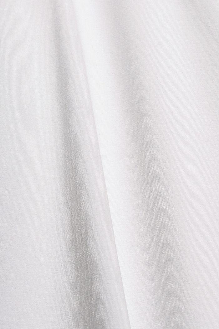 Tanktopbody van biologisch katoen/stretch, WHITE, detail image number 4