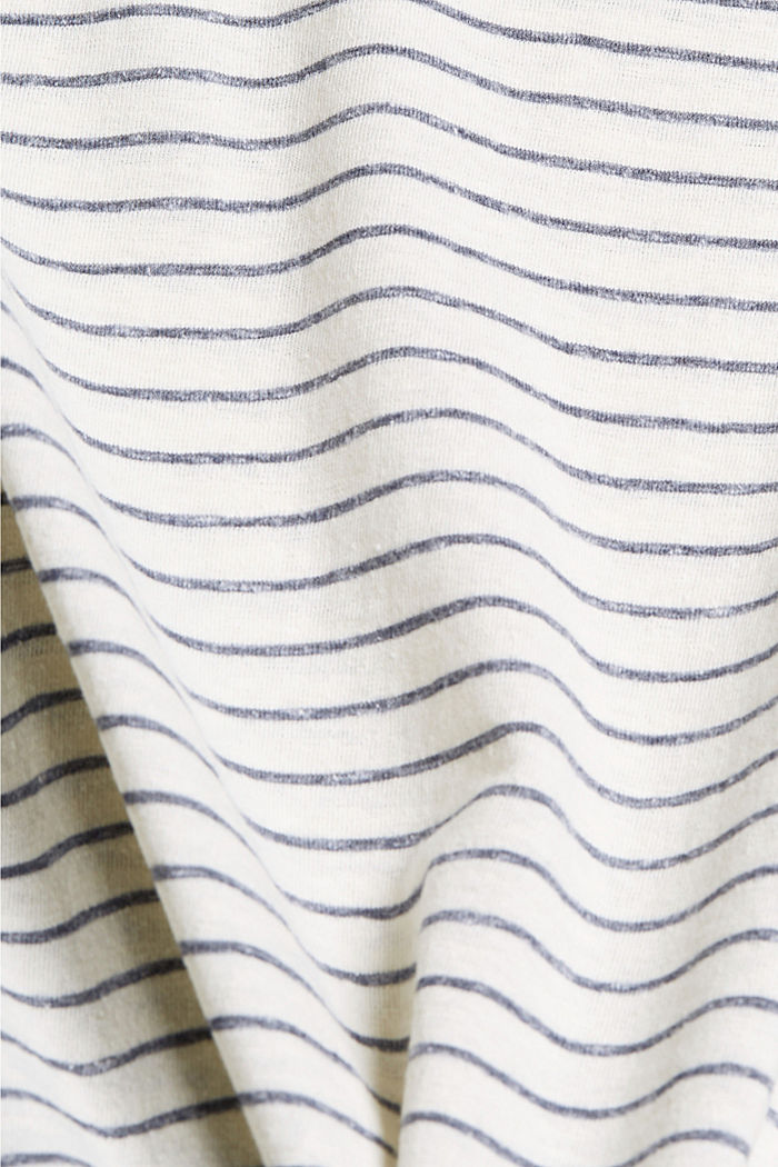 CURVY recycled: striped T-shirt, NAVY, detail image number 4