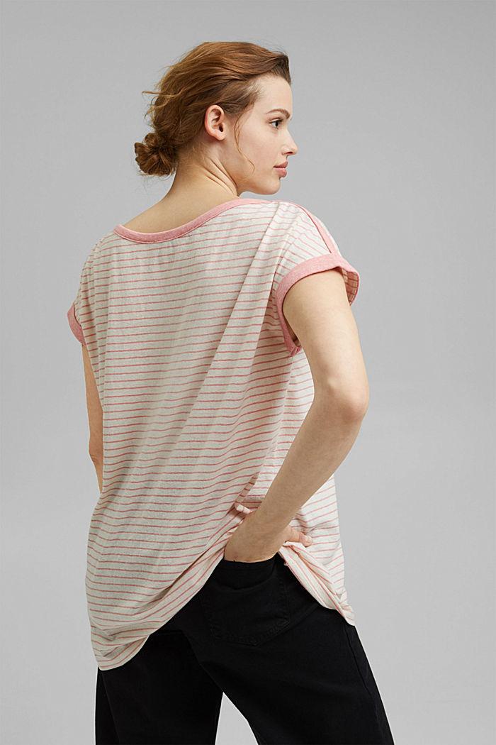 CURVY Recycelt: T-Shirt mit Streifen, CORAL, detail image number 3