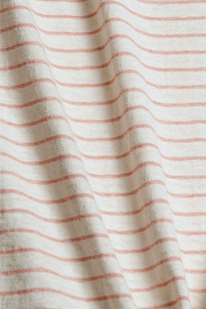 CURVY Recycelt: T-Shirt mit Streifen, CORAL, detail image number 4