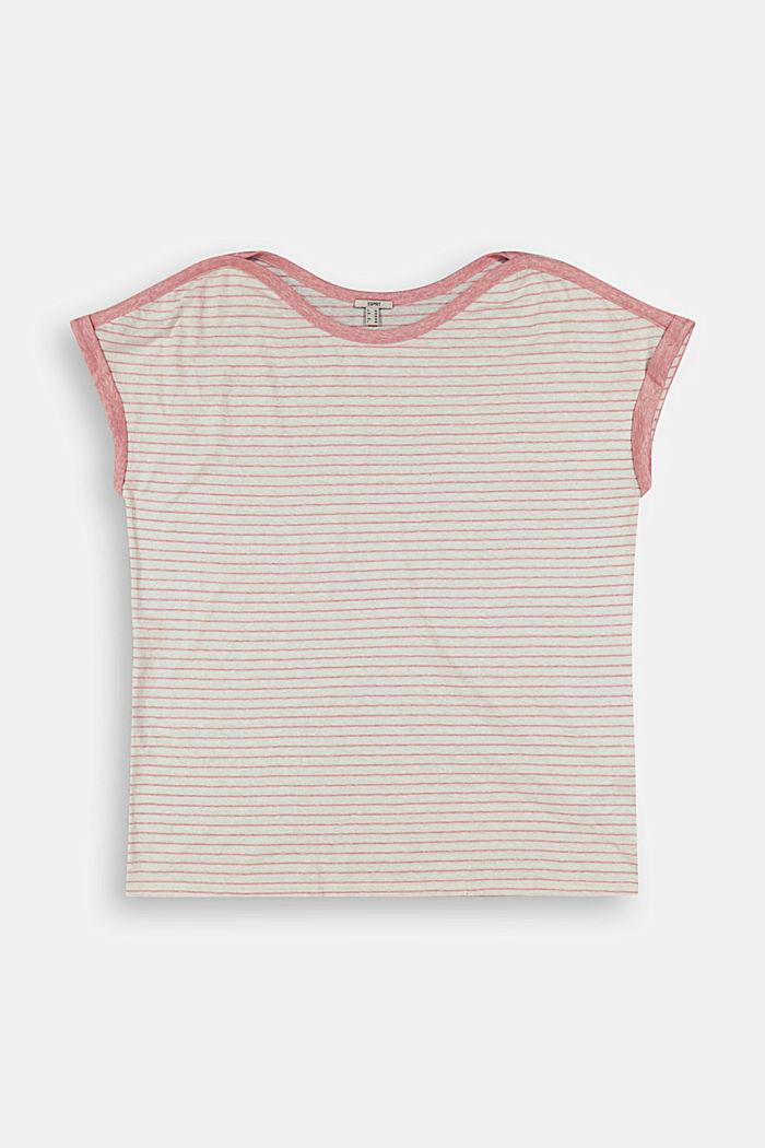 CURVY Recycelt: T-Shirt mit Streifen, CORAL, detail image number 7
