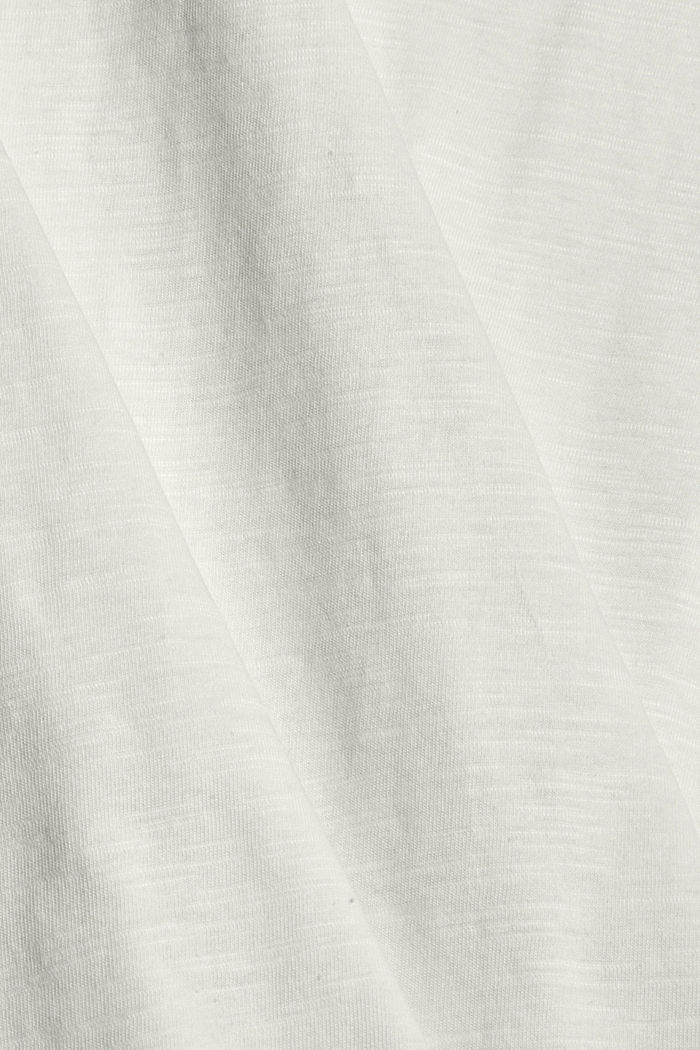 Tričko s dírkovanoukrajkou, bio bavlna, OFF WHITE, detail image number 4