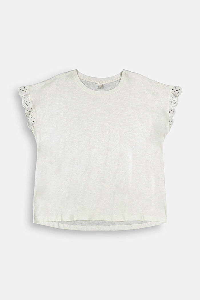 Tričko s dírkovanoukrajkou, bio bavlna, OFF WHITE, detail image number 6