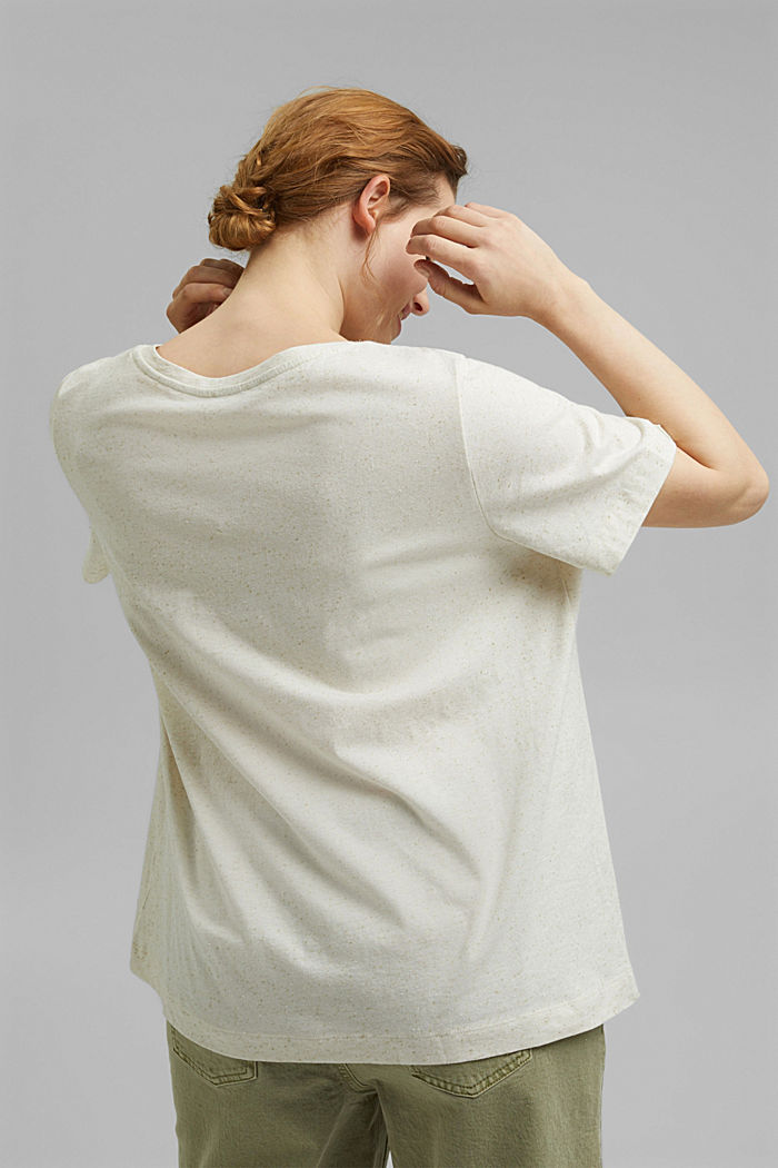 CURVY printed T-shirt containing organic cotton, SAND, detail image number 3