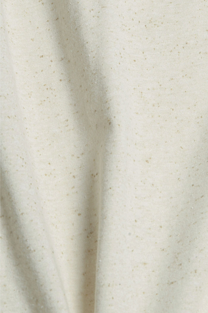 CURVY printed T-shirt containing organic cotton, SAND, detail image number 4