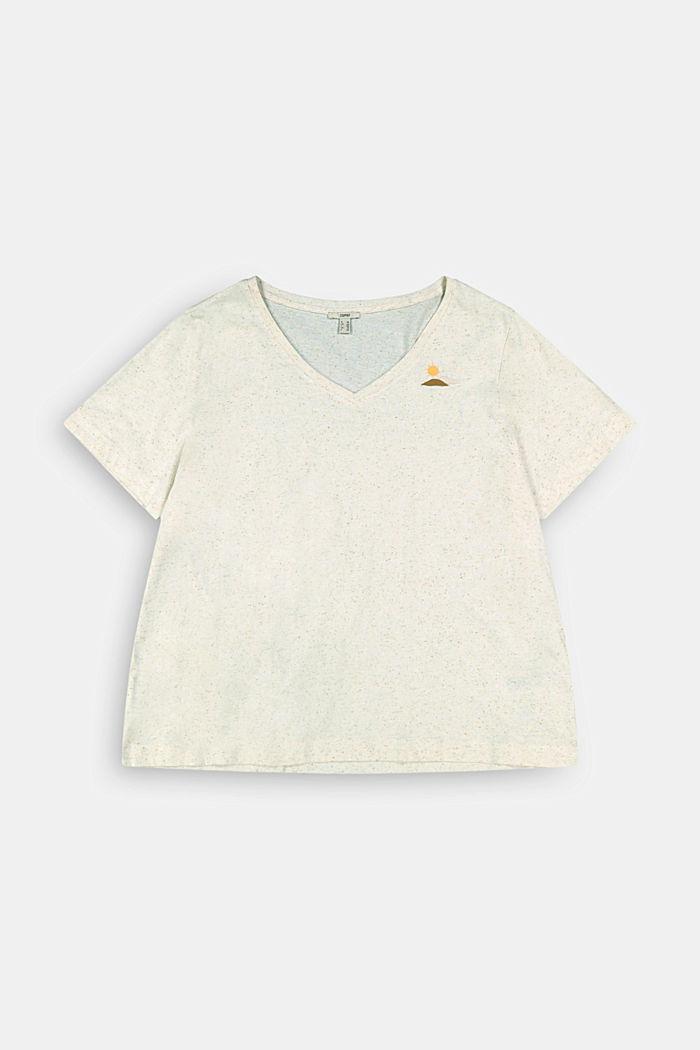 CURVY printed T-shirt containing organic cotton