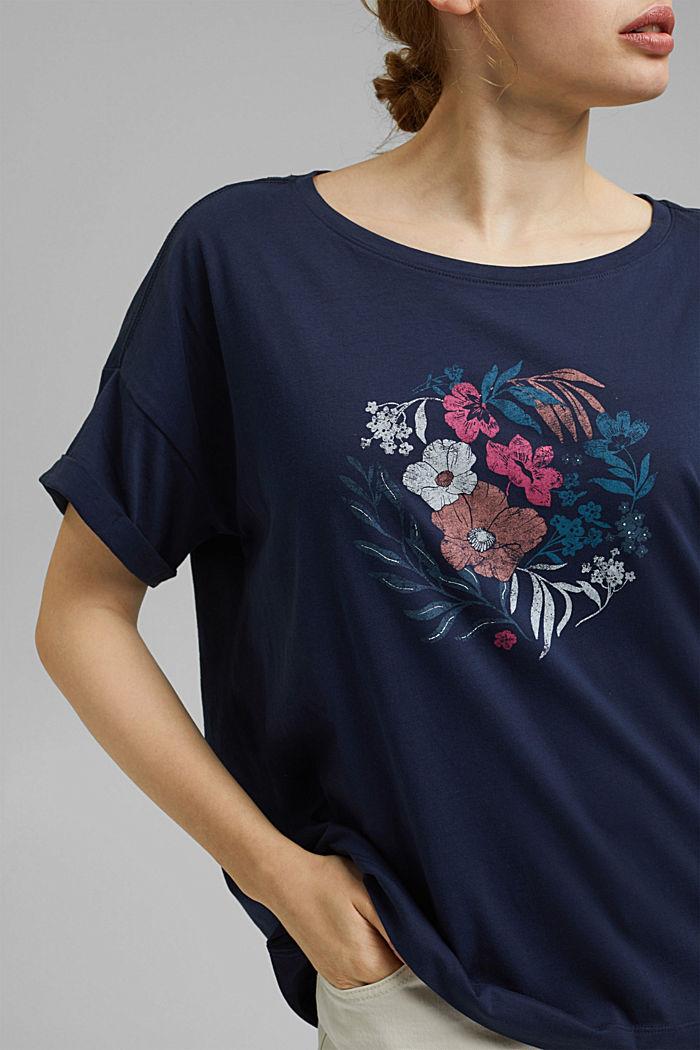 CURVY print T-shirt, 100% organic cotton