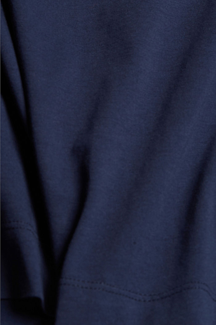 CURVY print T-shirt, 100% organic cotton, NAVY, detail image number 4