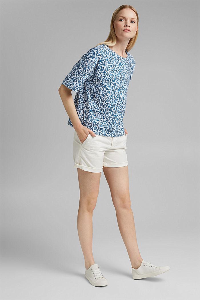 Oversize T-Shirt mit Print, Organic Cotton, BLUE, detail image number 1