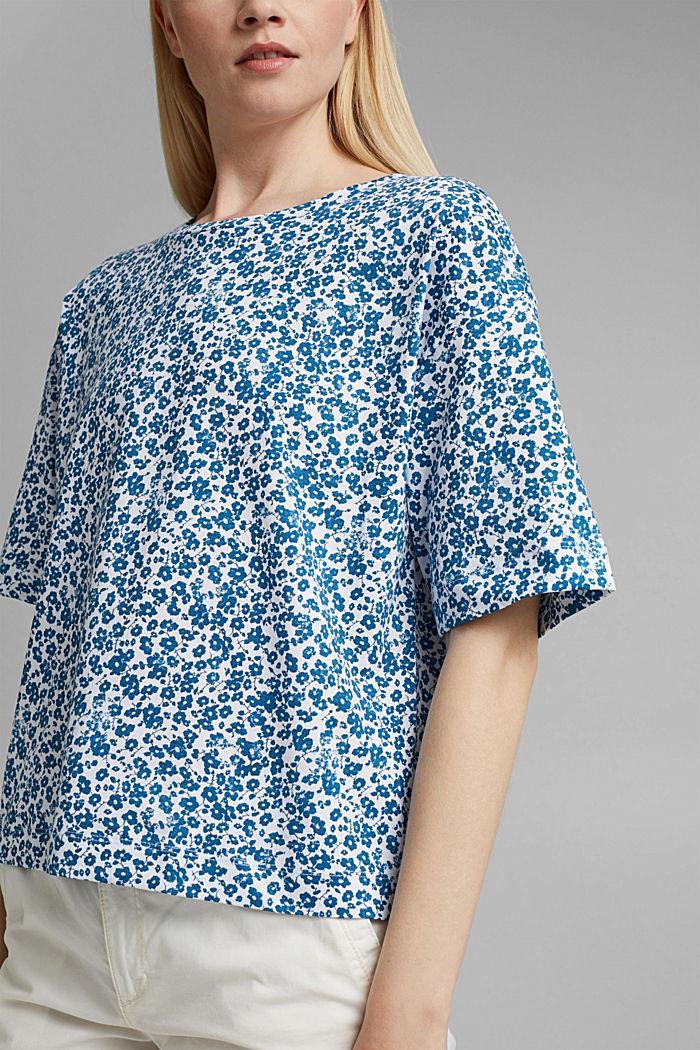 Oversize T-Shirt mit Print, Organic Cotton, BLUE, detail image number 2