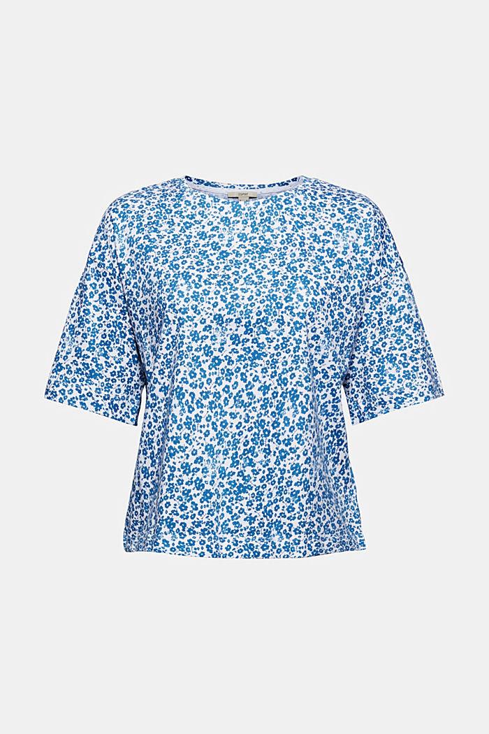 Oversize T-Shirt mit Print, Organic Cotton, BLUE, detail image number 5