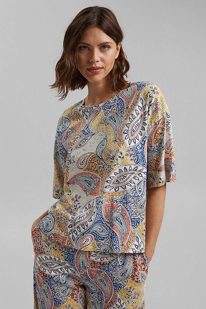 Oversize T-Shirt mit Print, Organic Cotton, OFF WHITE, detail image number 0