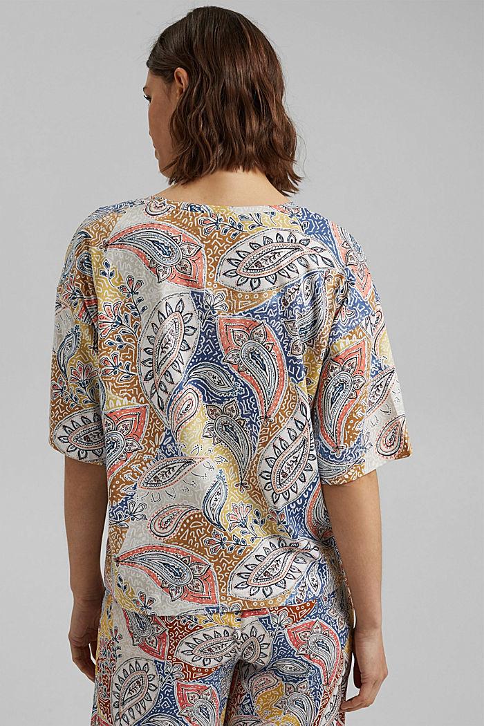 Oversize T-Shirt mit Print, Organic Cotton, OFF WHITE, detail image number 3
