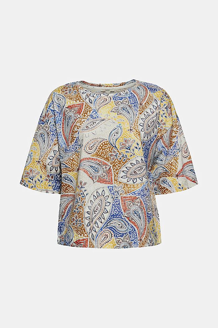 T-shirt oversize z nadrukiem, bawełna organiczna