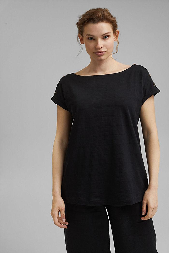 CURVY Shirt mit Knöpfen, Organic Cotton