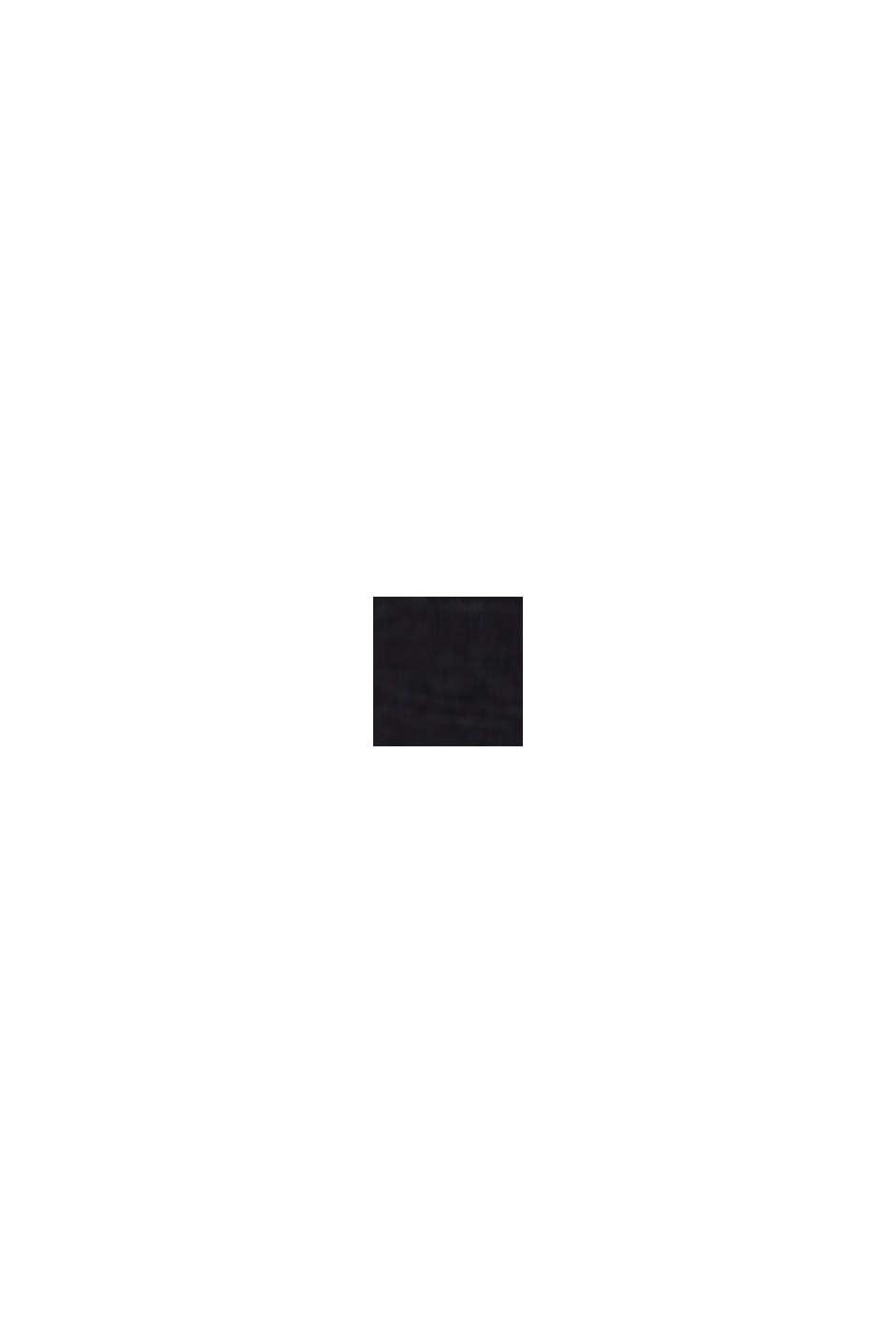 CURVY Maglia con bottoni, cotone biologico, BLACK, swatch