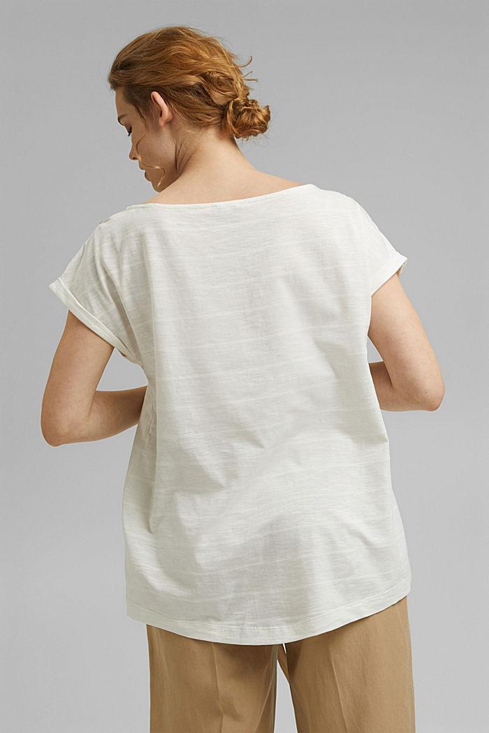 CURVY Shirt mit Knöpfen, Organic Cotton, OFF WHITE, detail image number 3