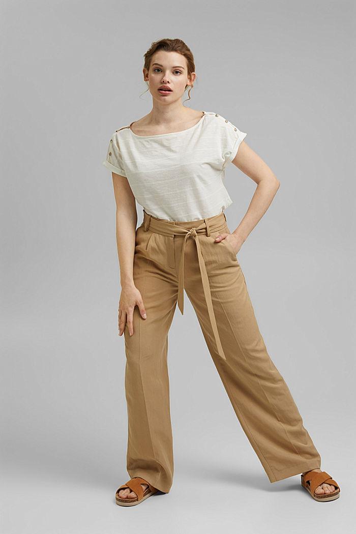 CURVY Shirt mit Knöpfen, Organic Cotton, OFF WHITE, detail image number 1