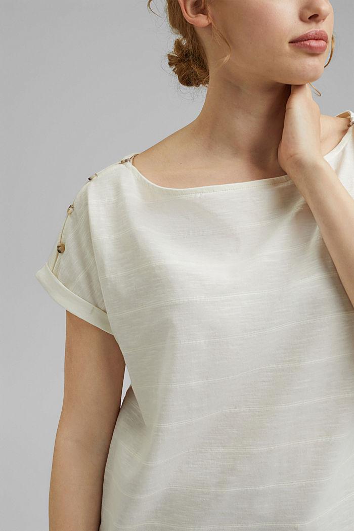 CURVY Shirt mit Knöpfen, Organic Cotton, OFF WHITE, detail image number 2