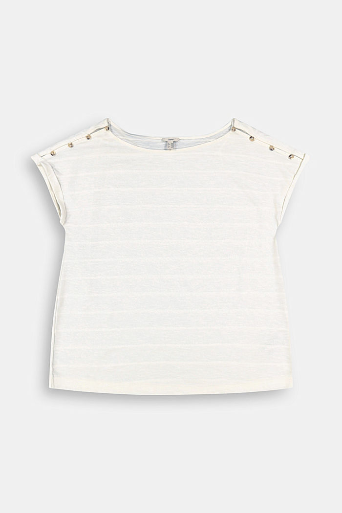 CURVY button detail T-shirt, organic cotton