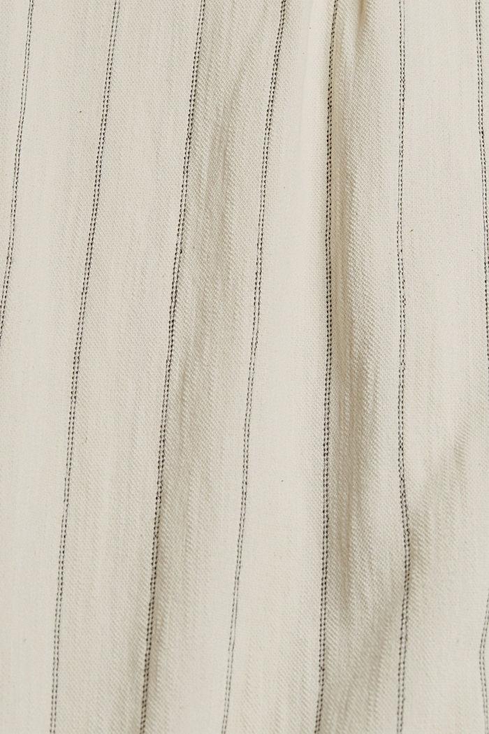 CURVY: tričko v halenkovém stylu, bio bavlna, OFF WHITE, detail image number 4