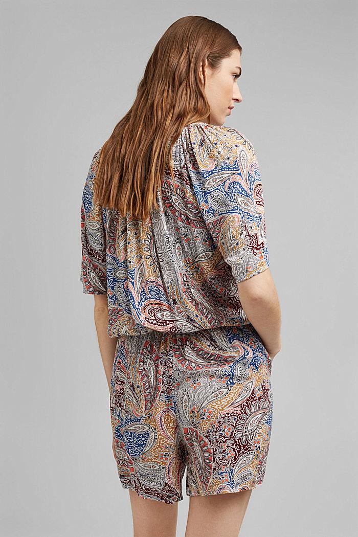Crinkle-Jumpsuit mit Paisley-Print, LIGHT BEIGE, detail image number 3