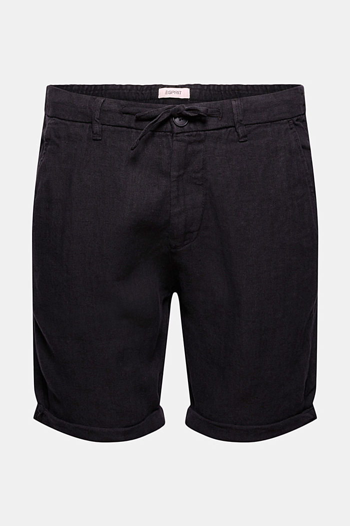 Made of linen: Shorts with an elasticated waistband