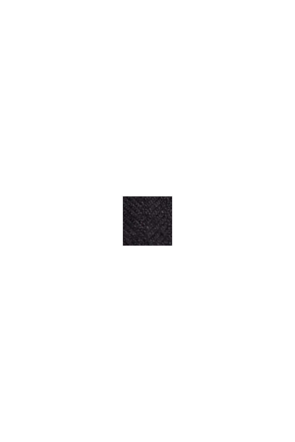 I linne: Shorts med resårlinning, BLACK, swatch
