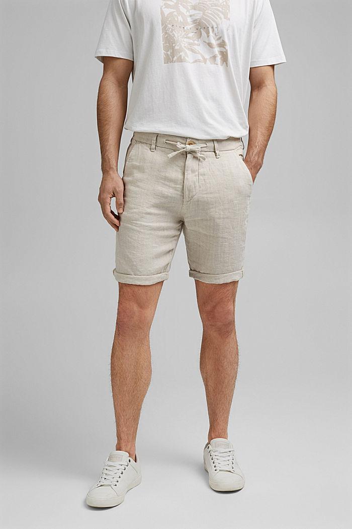 I linne: Shorts med resårlinning