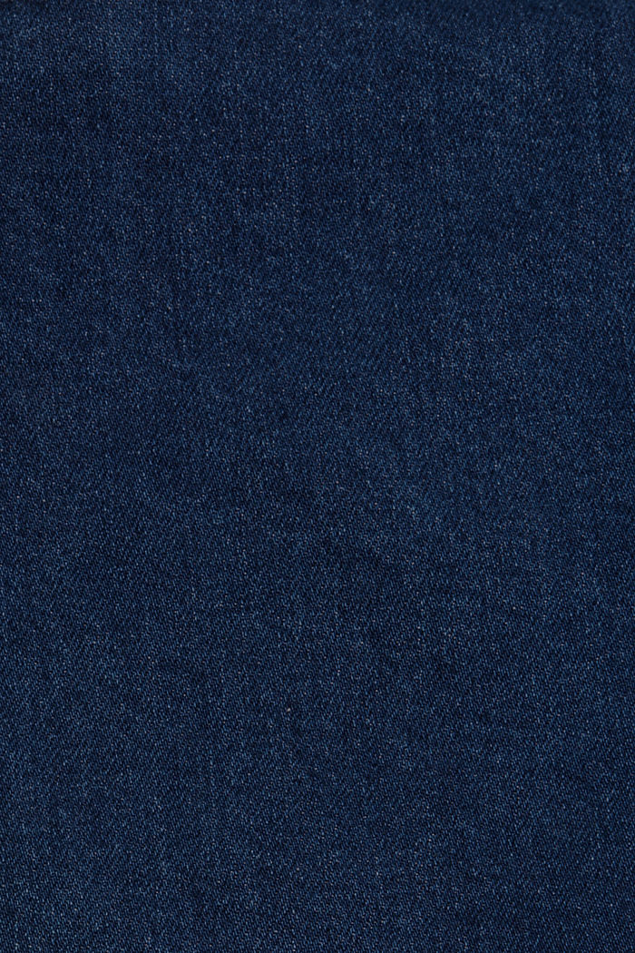 Slim-fitting denim shorts made of an organic cotton/lyocell blend, BLUE DARK WASHED, detail image number 5