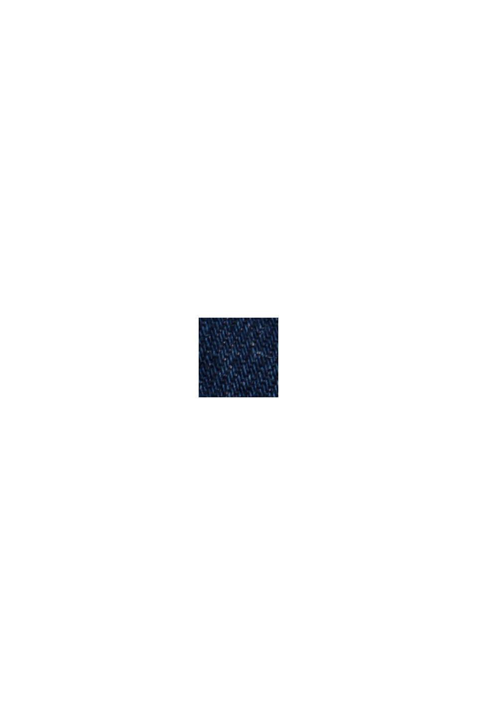 Biologisch katoen/lyocell: smalle denim short, BLUE DARK WASHED, swatch